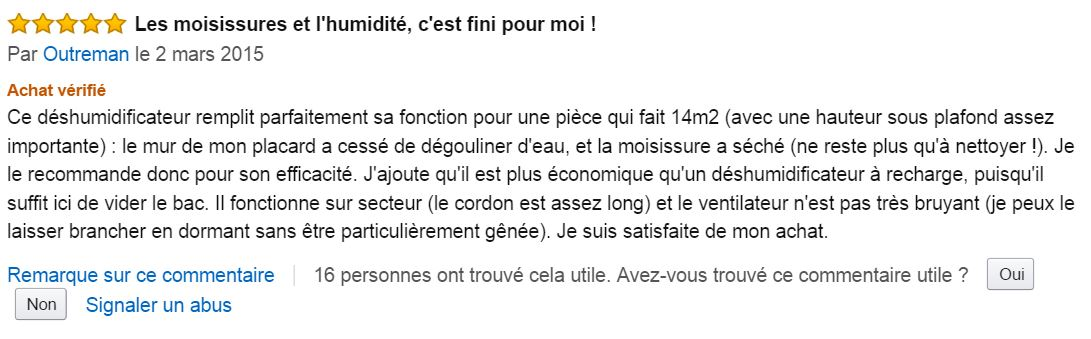 Duronic_DH05_deshumidificateur_mini_meilleur_commentaire_client_amazon